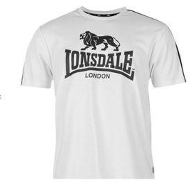 Lonsdale Two Stripe Logo Mens T-Shirt - White