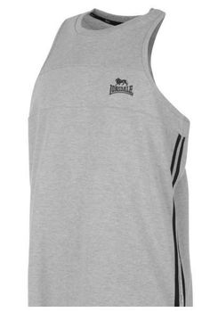 Lonsdale Two Stripe Mens Muscle Vest - Grey