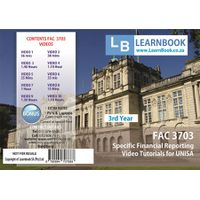 Learnbook SA FAC 3703 Video Tutorials for Unisa