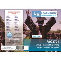 Learnbook SA FAC 3704 Video Tutorials for Unisa