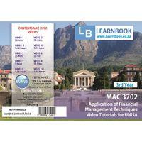 Learnbook SA MAC 3702 Video Tutorials for Unisa