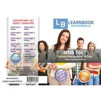 Learnbook SA MNB 1601 Video Tutorials for Unisa