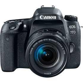 Canon 77D 24.2MP DSLR Camera with 18-55mm Lens - Black