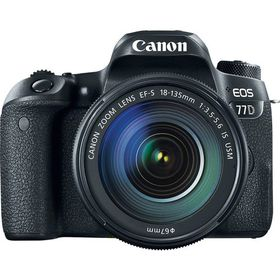 Canon 77D 24.2MP DSLR Camera with 18-135mm Lens - Black