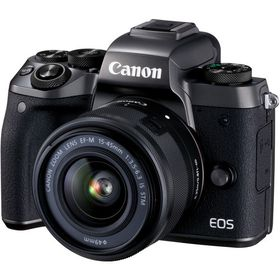Canon EOS M5 Mirrorless Camera with 15-45mm Lens - Black