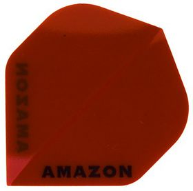 Amazon Transparent Darts Flight - Red (Pack of 6)