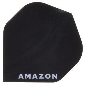 Amazon Solid Dart Flight - Black (Pack of 6)