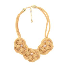 Lily&Rose Yellow Gold Coloured Chain Mail Knot Necklace
