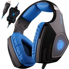 SADES A60 Gaming Headphones with Microphone for PC & MAC - Blue
