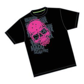 Madd Apparel Corpo Skull Tee - Black, Pink
