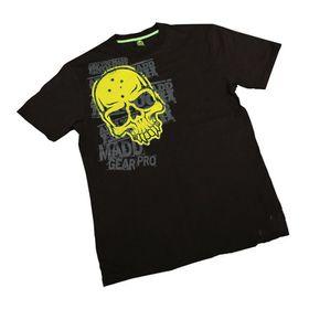 Madd Apparel Corpo Skull Tee - Black, Yellow