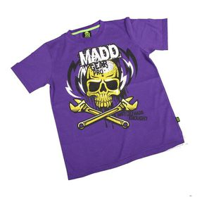 Madd Apparel Lightning Bolt Tee - Purple