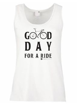 SweetFit-  Good Day Ladies White Vest