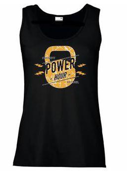 SweetFit-  Power Hour Ladies Black Vest