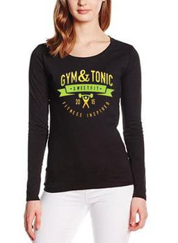 SweetFit-  Gym & Tonic Ladies Black Long Sleeve Tee