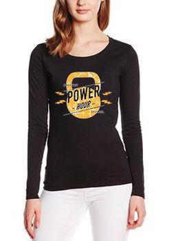 SweetFit-  Power Hour Ladies Black Long Sleeve Tee