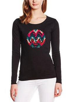 SweetFit-  Rock Your Sprocket Ladies Black Long Sleeve Tee