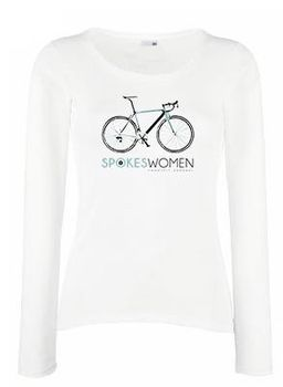 SweetFit-  Spokeswoman Ladies White Long Sleeve Tee