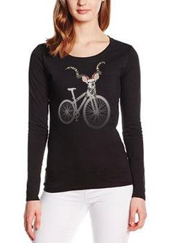 SweetFit-  Sweet Ride Ladies Black Long Sleeve Tee