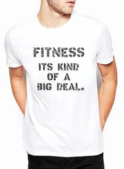 SweetFit-  Big Deal Men's White Tee