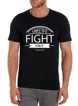 SweetFit-  Fight For It Men's Black Tee