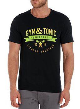 SweetFit-  Gym & Tonic Men's Black Tee