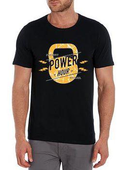 SweetFit-  Power Hour Men's Black Tee