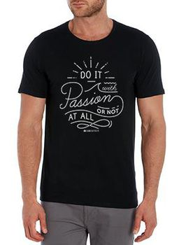SweetFit-  Do it with Passion Men's Black Tee