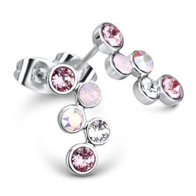 Diana Earrings Made With Swarovski Crystals - DJ-26021-LR