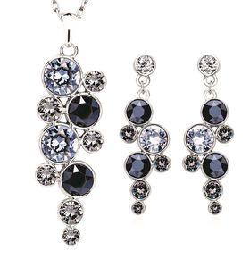 Dianna Earrings & Necklace Set Made With Swarovski Crystals - DJ-S8080