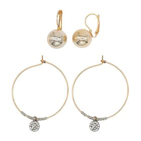Yellow Plated Gold Ball Earring  - TLSET094