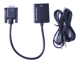 Ultra Link Premium Vga To Hdmi With Audio Conversion Cable - Black