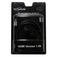 Ultra Link HDMi Cable With Ethernet ULP-HC0300 - Grey & Black