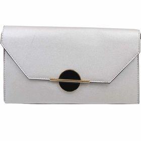 Blackcherry Large Clutch Bag - Silver