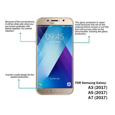 Tempered Glass for Samsung Galaxy A3 2017 Edition - 2 5D
