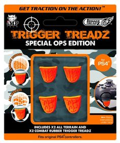 Trigger Treadz Special Ops Grips - 4 Pack (PS4)