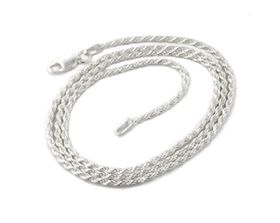 Miss Jewels Genuine 925 Sterling Silver 50cm Rope Necklace