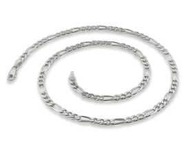 Miss Jewels Genuine 925 Sterling Sliver 50cm Figaro Chain