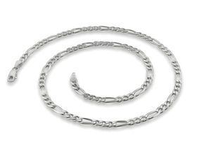Miss Jewels Genuine 925 Sterling Sliver 55cm Figaro Extra Flat Chain