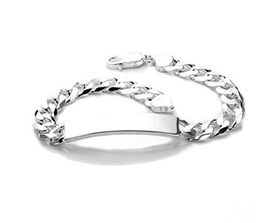 Miss Jewels Genuine 925 Sterling Sliver 21cm Curb ID Bracelet