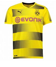 Men's Puma Borussia Dortmund FC Home Replica Shirt with Sponsor