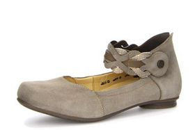 Think FOI Women's Ankle Strap Ballet Flat Shoes - Fawn
