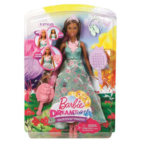 Barbie Feature Hair Princess Doll Blue Dress Buy Online In South