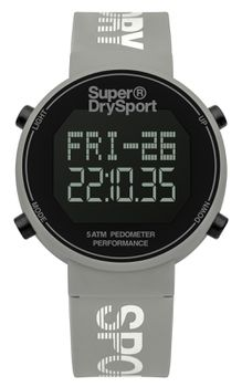 Superdry Watches Digi Pedometer - Cool Grey & Silver