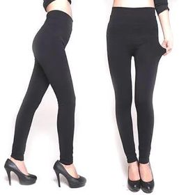 Pack Of 2 High Waisted Black Thermal Leggings