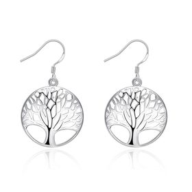 Unexpected Box Tree of Life Earrings - Silver