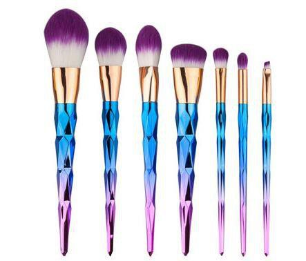 unicorn brush set. 7 piece rainbow unicorn brush set. loading zoom set