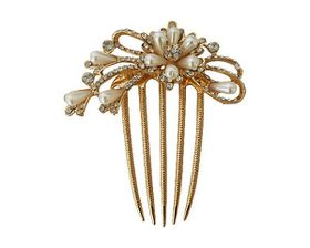 Urban Bride Hair Comb Rose Gold Headpiece With Pearls