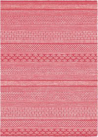 Rugs Original Beau - Red & White Aztec Inspired Design