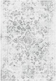 Rugs Original Beau - Aged White & Silver Floral Inspired Design